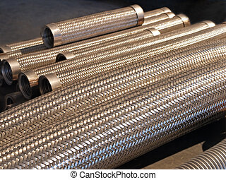 Flexible metal hose - Flexible metal hose in a warehouse