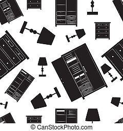 Background pattern of home furniture