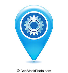 gear pointer icon on a white background