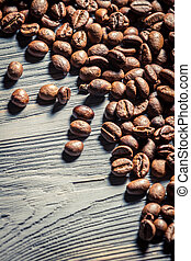 Coffee seed on wooden table background no. 2