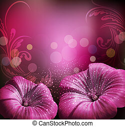 congratulatory background with flowers