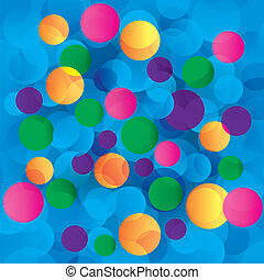 Colorful circles abstract light background. Vector...