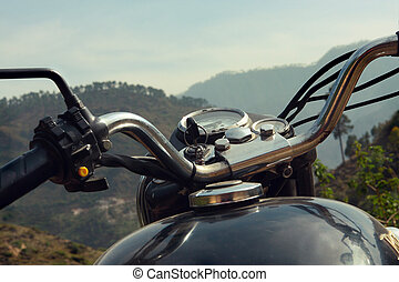 Royal Enfield motorcycle in the Himalayas, India
