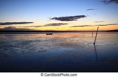 sunset beach dorset - sunset at the fleet lagoon chesil...