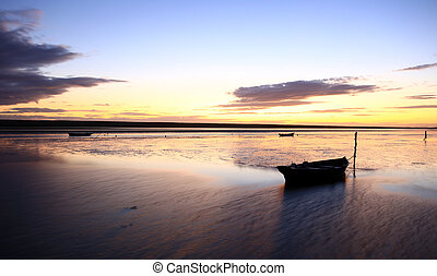 sunset beach dorset - sunset at the fleet lagoon chesil...