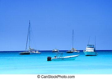 Saona island, motorboats,speedboats - Dominican republic,...
