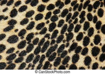 Faux leopard fur texture background