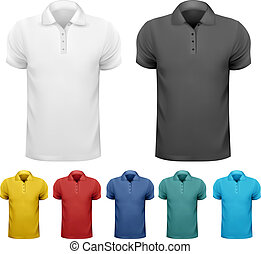 Black and white and color men t- shirts Design template...