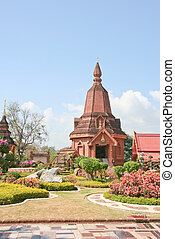 Pagoda in a temple in Thailand