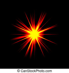 Big Boom - A bright exploding burst over a black background.