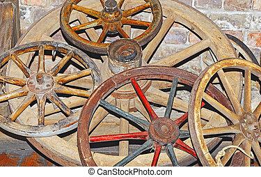 anticaglia, carro, ruota
