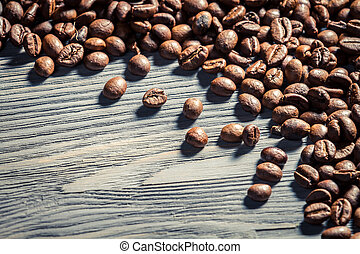 Coffee seed on wooden table background no 5