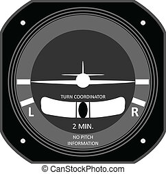 Aircraft instrument. - Turn Coordinator.
