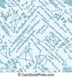 Maths seamless pattern. EPS 8 - Maths seamless pattern. And...