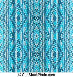 Blue-gray seamless pattern of stripes and rhombus vector