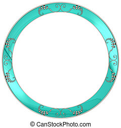 Round frame with silver patterns