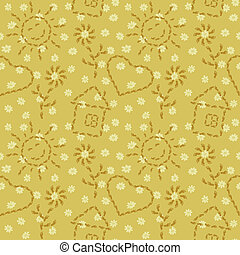 Seamless, pattern from footprints