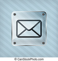 EPS Vectors of Email icon, button. - Email mail icon, button, 3d ...