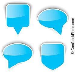 Set of paper speech bubble