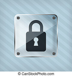 transparency padlock icon on the striped background