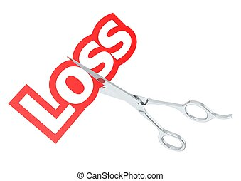 Cut loss - Rendered artwork with white background