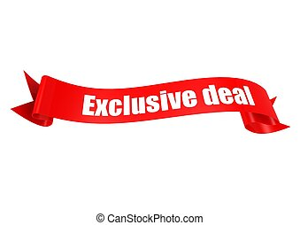 Exclusive deal ribbon - Rendered artwork with white...