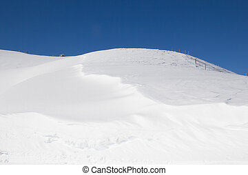 Snow drifts in the swiss alps