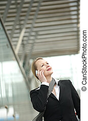 Portrait of a mature woman talking on a cellphone