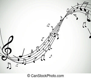Vector Music Notes - Vector Illustration of Music Notes