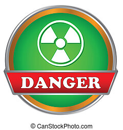 Danger logo - Green danger logo on a white background