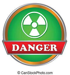 Danger logo - Green danger logo on a white background