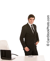 Business executive - Image of a business executive near his...
