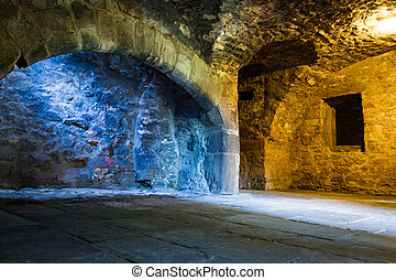 Mixed light in stone chamber
