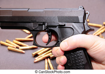 gun trade 4 - concept of a drug deal or gun hire going down...