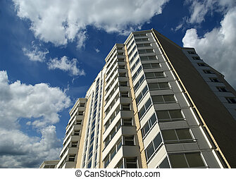 Modern residential high rise building. Moscow, Russia