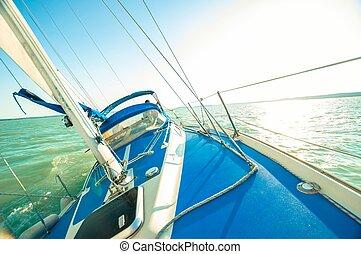 acqua, navigazione, barca
