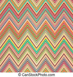 Seamless colorful zigzag pattern