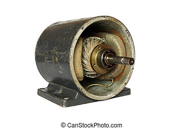 Dissasembled dc electromotor - Opened used direct current...