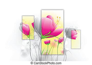 Fresh Flower - illustration of fresh flower on abstract...