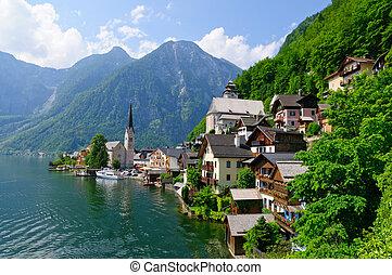 Hallstatt, Austria - Hallstatt is in Upper Austria, a...