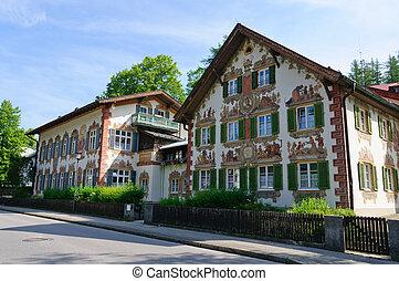 Oberammergau, Germany - Oberammergau is a municipality in...