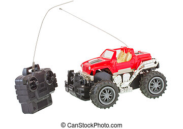 Remote control toy - Remote controled four wheel drive truck...