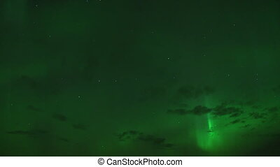 Big Dipper Stars Aurora Borealis - Near real-time northern...