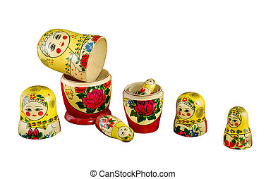 Matreshka_constructor russian dolls separated as constructor...