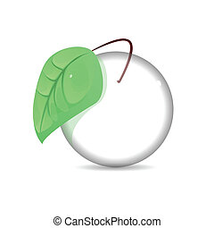 Concept nature green leaf and global glass