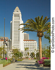 Los Angeles City Hall - View of west side Los Angeles City...