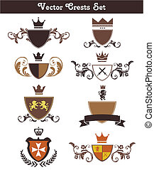 Vector Crests Set - This is a set of vector crests suitable...