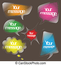 speech bubble clear sticker set