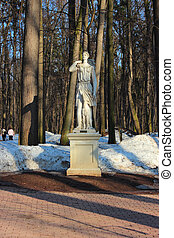 """The sculpture """"Diana"""" at the State Historical and Architectural Museum-Reserve """"Tsaritsyno"""" Moscow."""