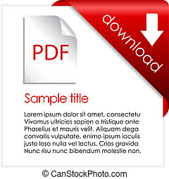 Pdf download cart, vector illustration